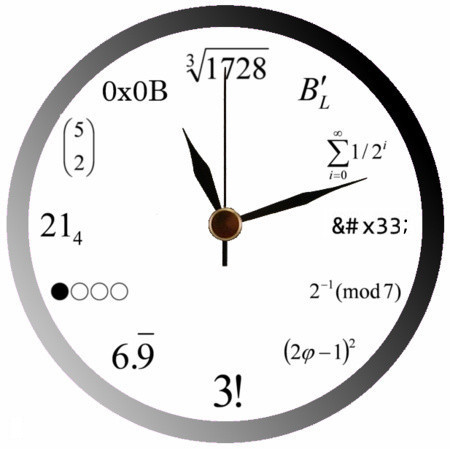 mathematic-clock