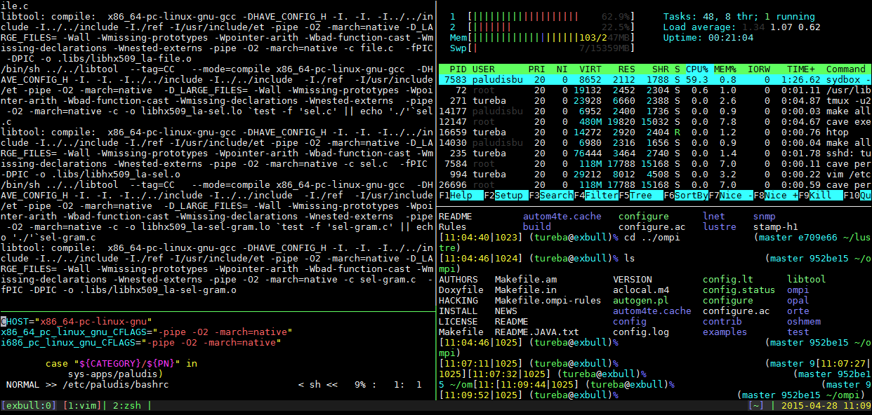 tmux examples
